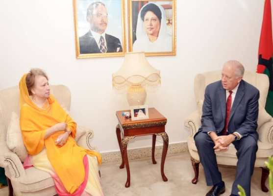 Shannon discusses election, Rohingya issues with Khaleda