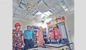 Three burnt in gas leak explosion
