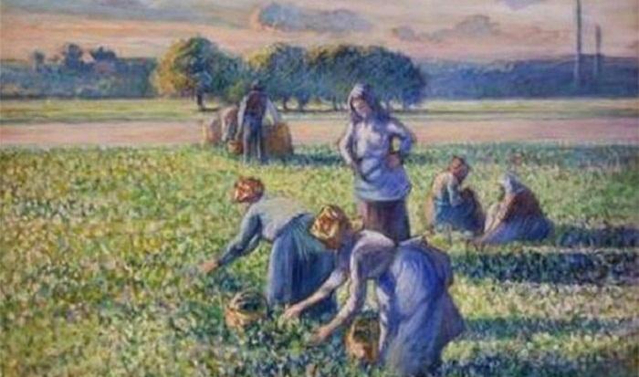 Pissarro's Picking Peas returned to Jewish owners