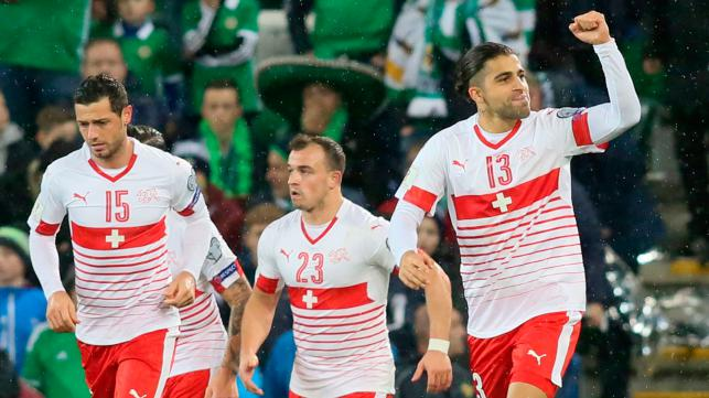 Switzerland beat Northern Ireland in first World Cup play-off