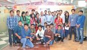 Varendra Univ students visit daily sun office