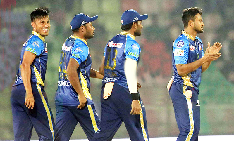Afridi secures easy win for Dhaka Dynamites against Sylhet Sixers