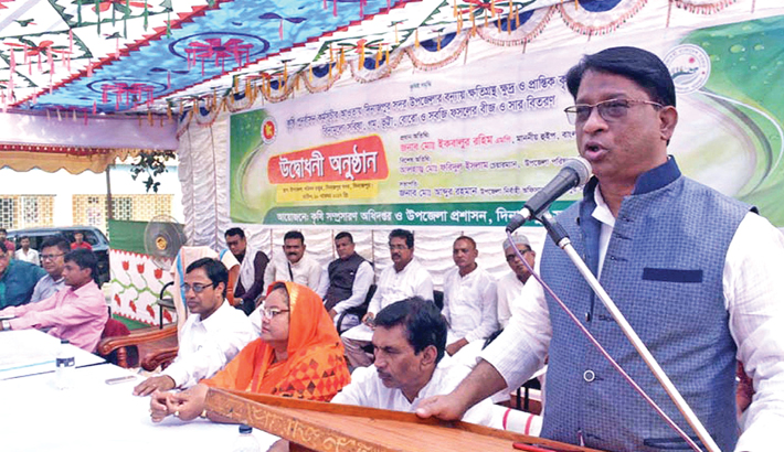 Jatiya Sangsad Whip Iqbalur Rahim speaks as the chief guest