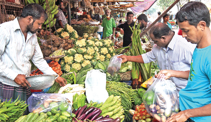 Vegetable prices mark fall