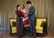 Aung San Suu Kyi expresses willingness to solve Rohingya crisis in Trudeau meeting