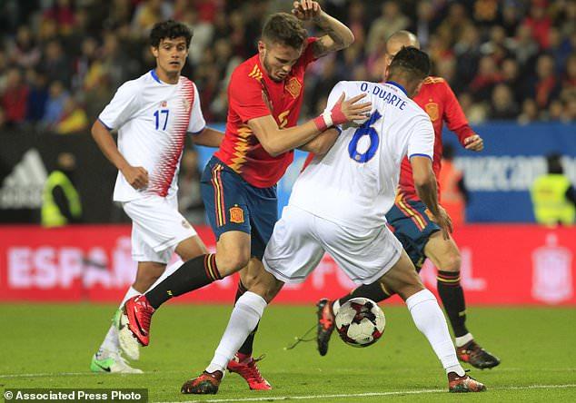 Silva nets 2 as Spain routs Costa Rica 5-0 in friendly
