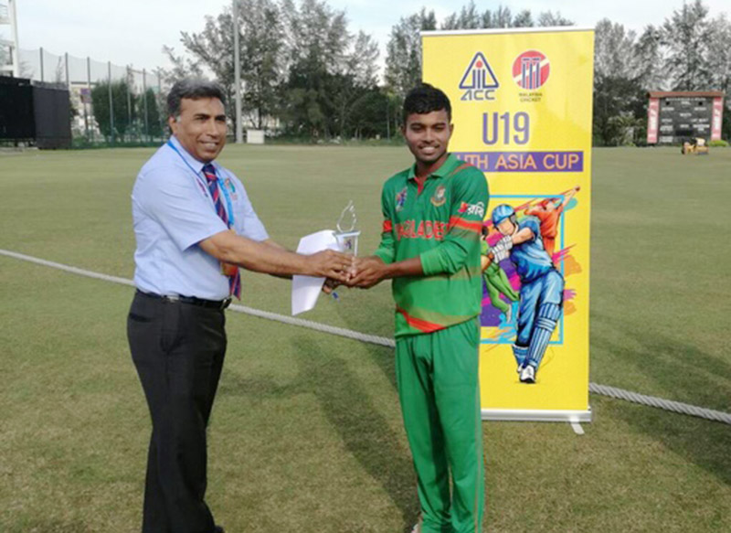Bangladesh U-19 dump Malaysia by 262 runs in Youth Asia Cup