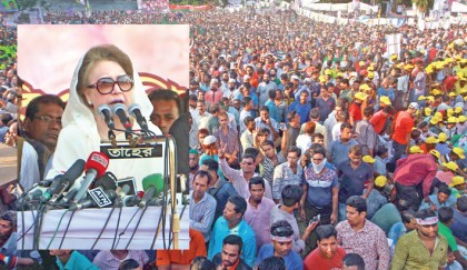 No polls under Hasina: Khaleda