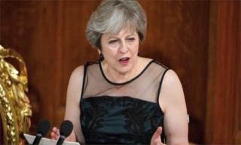 Theresa May accuses Vladimir Putin of election meddling