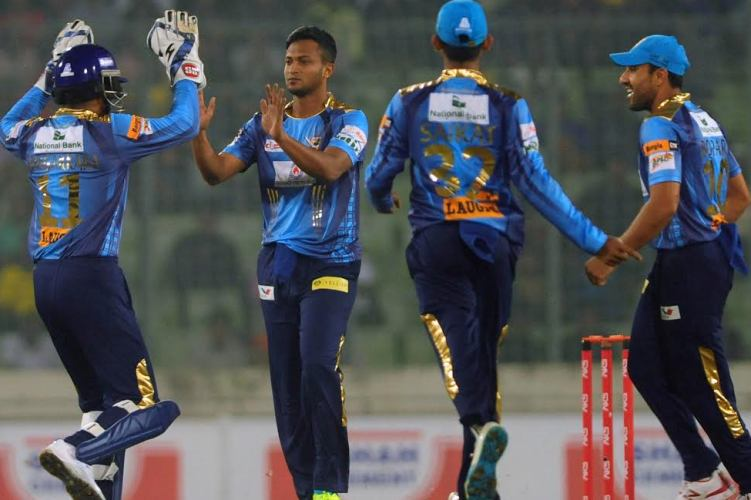 Khulna Titans score 156 for 5 against Dhaka Dynamites