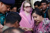Khaleda appears before court in graft cases