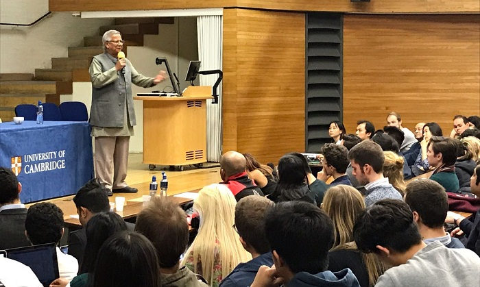 Yunus terms world's present economic system a mockery