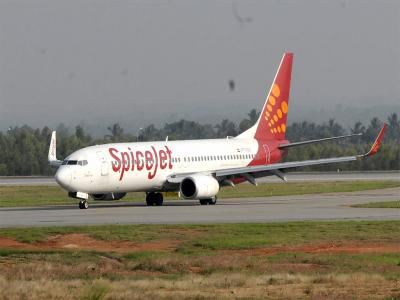 Indian SpiceJet aircraft catches fire at HSIA