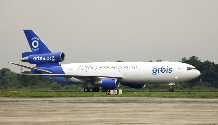 Orbis flying eye hospital arrives in Chittagong