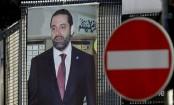Lebanon prime minister Saad Hariri arrives in France
