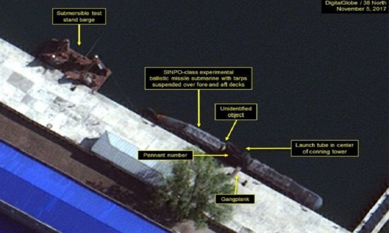 Images show North Korea's 'submarine ballistic missile programme'