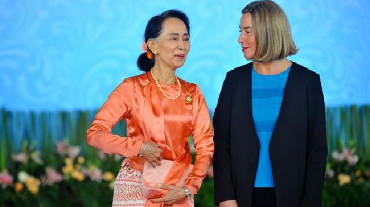 EU diplomat 'encouraged' by Rohingya talks with Suu Kyi