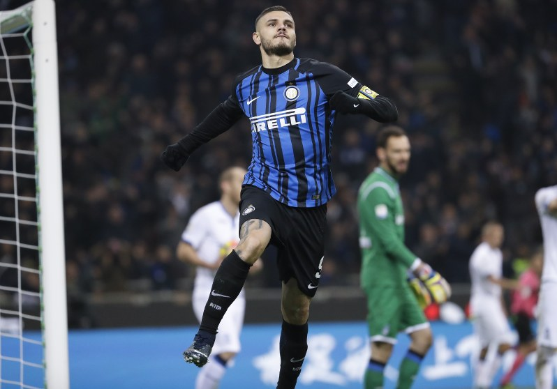 Inter beats Atalanta to move 2nd after Juventus loses