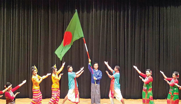 Ethnic communities from CHT enthrall audience in Singapore