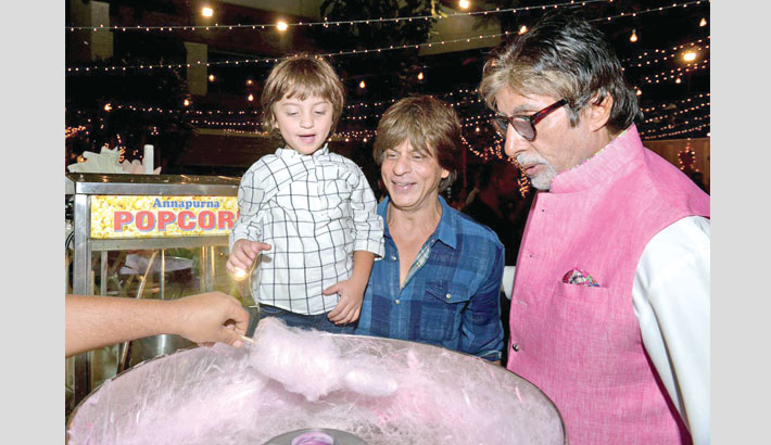 AbRam thinks Amitabh is his dad Shah Rukh's father