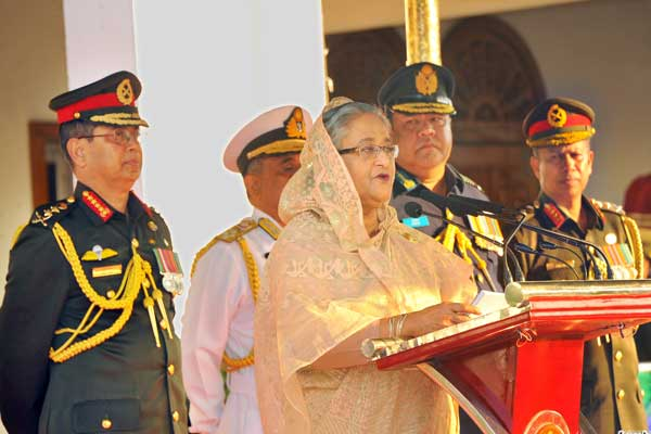 Army to play role in public welfare activities, continuation of democracy: PM hopes