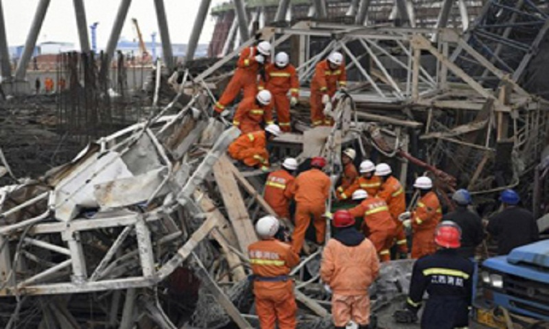 5 killed, 3 injured in central China scaffold collapse