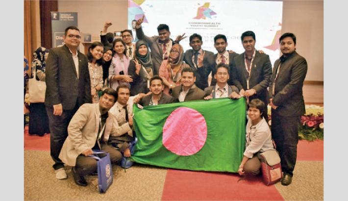 Upholding Bangladesh  At Commonwealth Youth Summit