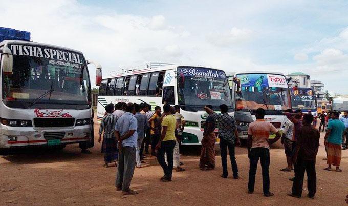 Indefinite transport strike underway in Dinajpur