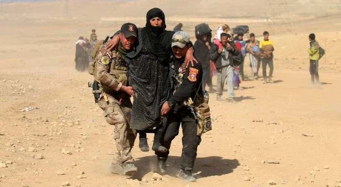 Iraq forces say IS retreating deep into desert