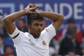 Lankan paceman Shanaka fined for ball tampering