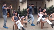 Sunny Leone's EPIC reaction when a crew member dropped a snake on her (Video)
