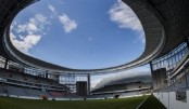 Russia builds inside-out stadium for World Cup