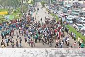 Jahangirnagar University left-leaning student organisations block Dhaka-Aricha highway