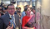 Tisha visits Akij Ceramics pavilion