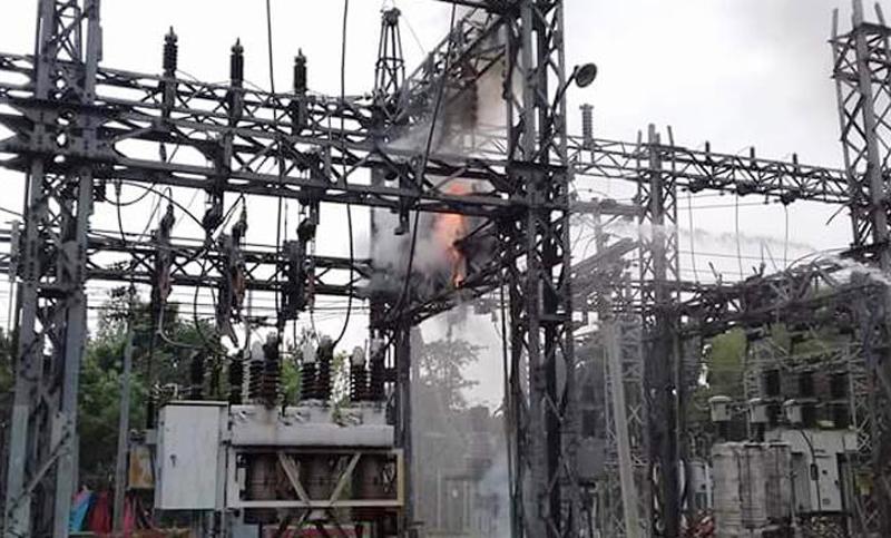 Fire at Fenchuganj sub-station doused