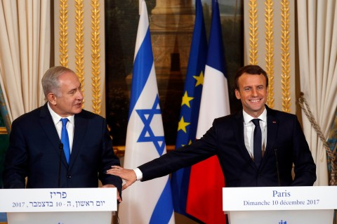 Israeli, French leaders tangle over US Jerusalem decision