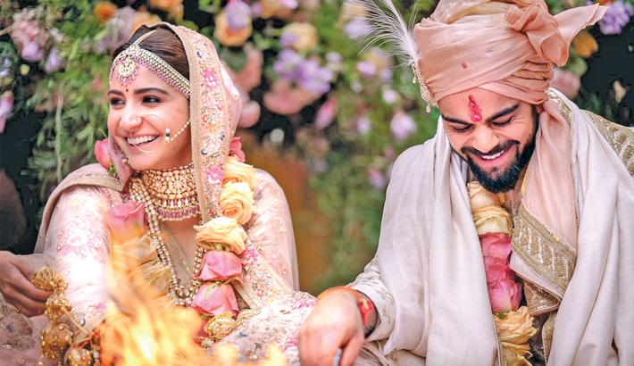 Kohli ties knot with Anushka in Italy