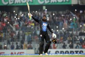 Gayle's unbeaten 146 powered Rangpur Riders to 206