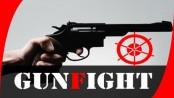Robber' killed in city gunfight