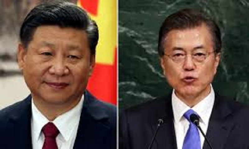 South Korean President Moon in China on visit to repair ties