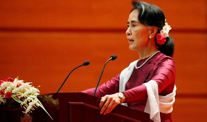 Dublin revokes Suu Kyi award in protest