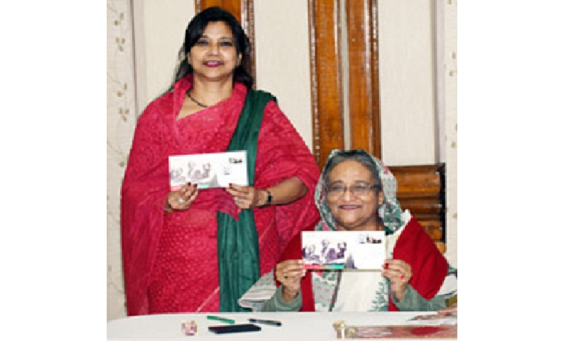 Prime minister releases postal stamp marking Victory Day