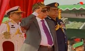 President takes salute at Victory Day Parade
