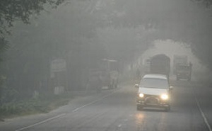 Quader for careful driving in thick fog