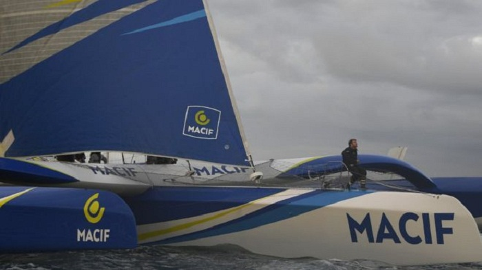 French sailor slashes around the world solo record