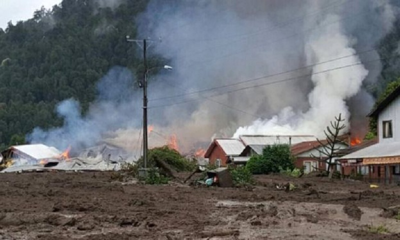 Chile: Landslide destroys village and kills at least five