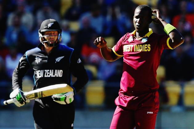 West Indies held to 248-9 in 1st ODI vs New Zealand