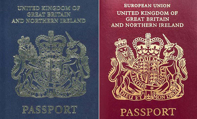 British passports will have blue covers again after Brexit