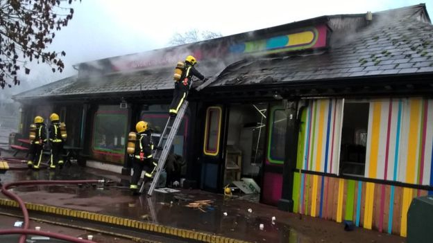 London Zoo fire: Zoo shuts as fire hits buildings
