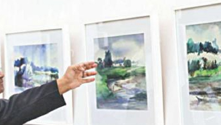 Art exhibition concludes in Mymensingh